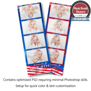 Patriotic Celebration 4-up Strips