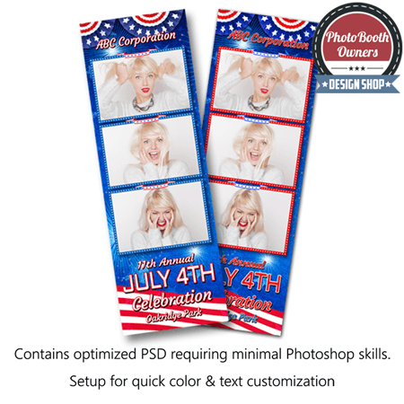 Patriotic Celebration 3-up Strips 1