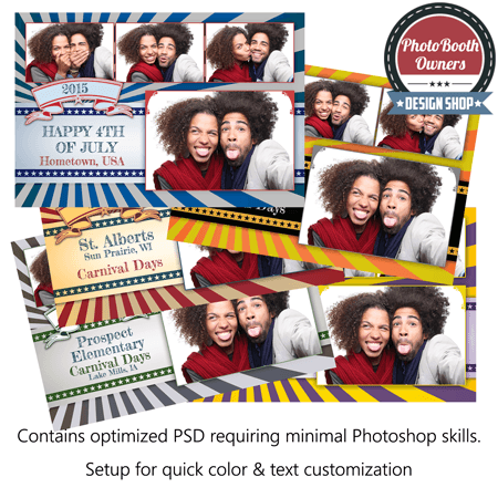 Vintage Carnival Postcard Photo Booth Template