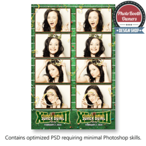 Football Party Photo Strips