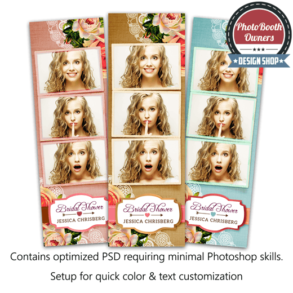 Floral Shabby Chic 3-up Strips