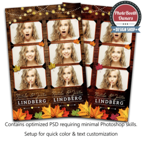 Rustic Autumn Leaves 3-up Strips