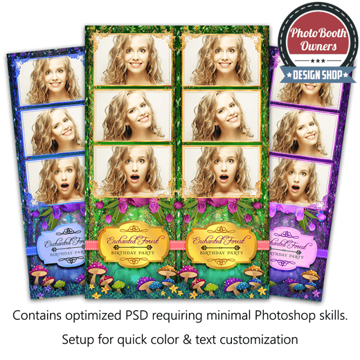Enchanted Forest 3-up Strips 1