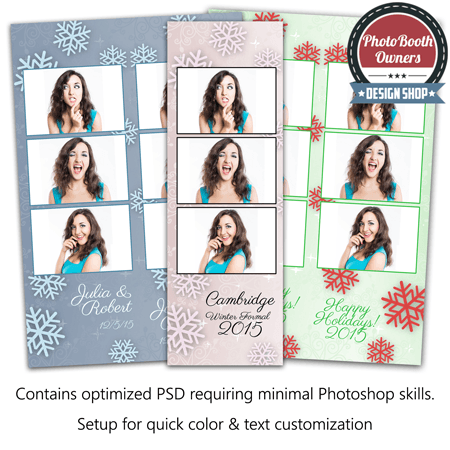 Snowflake Glimmer 3-up Strips 1