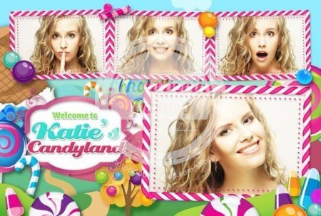Colorful Candy Land Postcard
