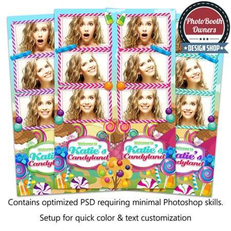 Colorful Candy Land 3-up Strips 1