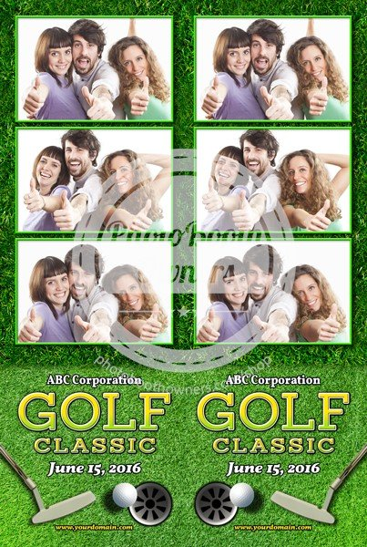 Par-Tee Time Celebration 3-up Strips