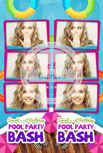 Pool Party Bash! 3-up Strips
