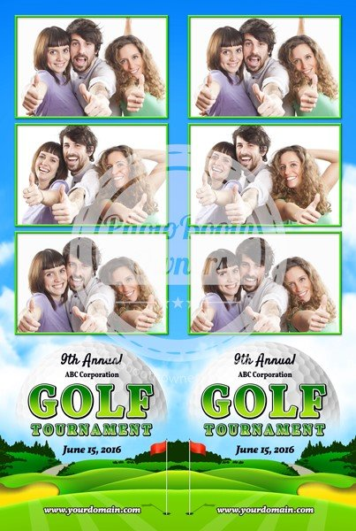 Golf Celebration 3-up Strips