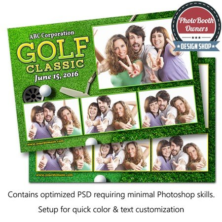 Par-Tee Time Celebration Postcard 1