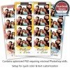 Brilliant Overlaying Flowers Photo Strips 1