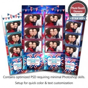American Celebration 3-up Strips