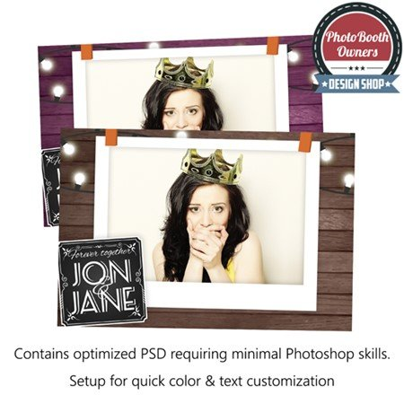 Rustic Polaroid Photo Booth Template