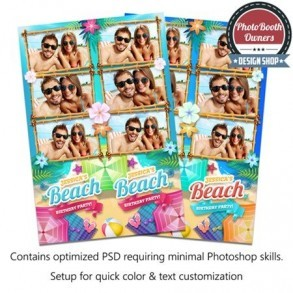 Ultimate Beach Party   3-up Strips