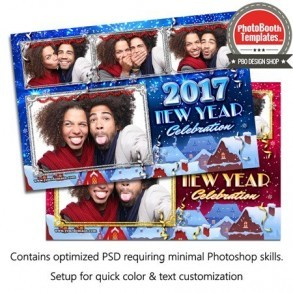 Wintery New Year Celebration Postcard