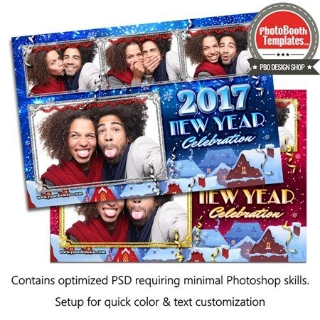 Wintery New Year Celebration Postcard 1