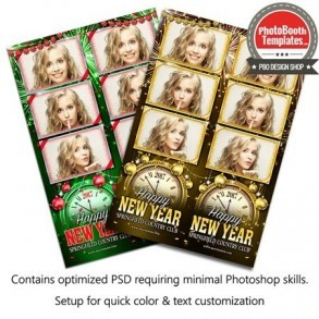Sparkling New Year 3-up Strips