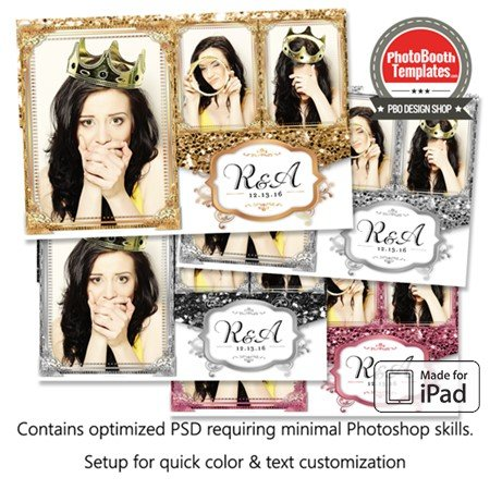 Glitz and Glam Postcard (iPad)
