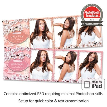 Cherry Blossom Celebration Postcard (iPad)