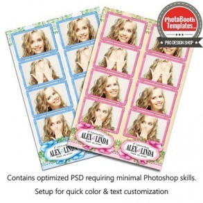 Country Garden 4-up Strips