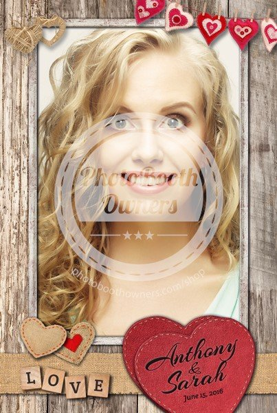 Romantic Rustic Hearts Portrait