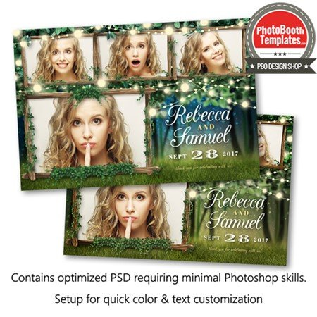 Enchanted Forest Lights Postcard