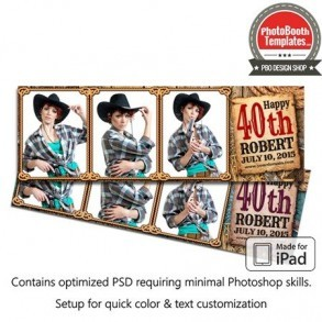 Country Time Celebration Postcard (iPad)