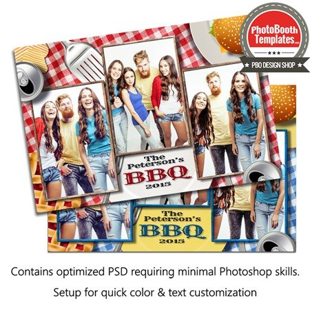 Barbeque Picnic Celebration Postcard