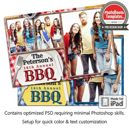 Barbeque Picnic Celebration Postcard (iPad) 1