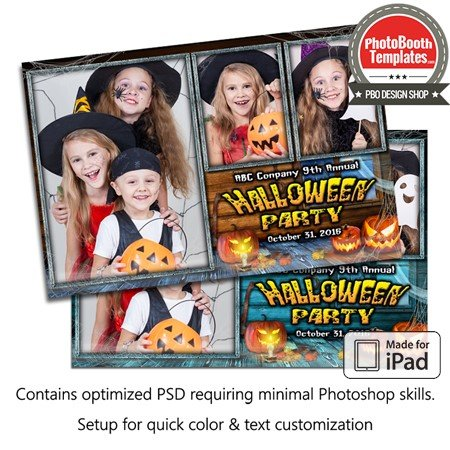 Pumpkin Party Postcard (iPad)
