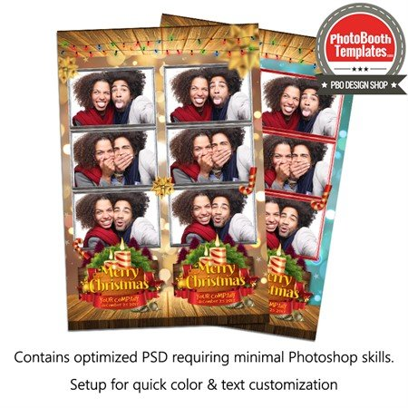 Warm Christmas Celebaration 3-up Strips