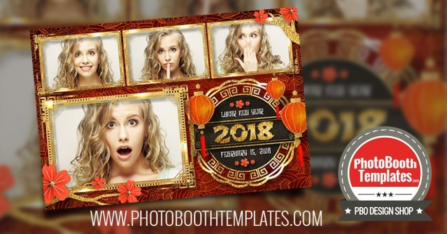 chinese new year photo booth templates