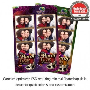 Fantastic Mardi Gras 3-up Strips