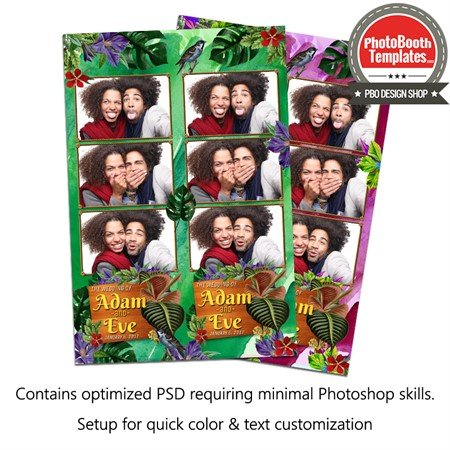 Tropical Wedding 3-up Strips 1