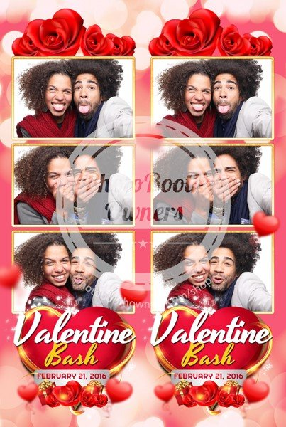Passion of the Valentine Bash 3-up Strips