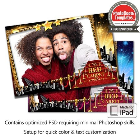Hollywood Red Carpet Glam Postcard (iPad) 1