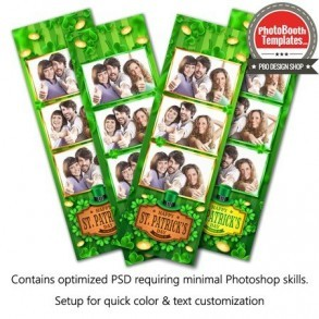 Irish Celebration 3-up Strips