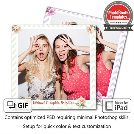 Chevron Daze Wedding Square (iPad) 1