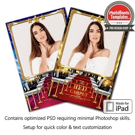 Hollywood Red Carpet Glam Portrait (iPad)