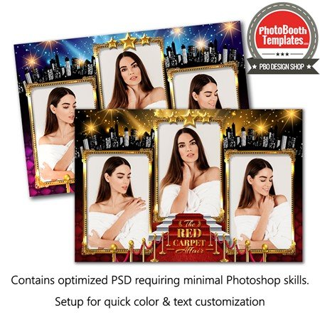 Hollywood Red Carpet Glam Postcard