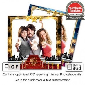 Hollywood Red Carpet Glam Square (iPad)