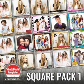 20 square photo booth templates