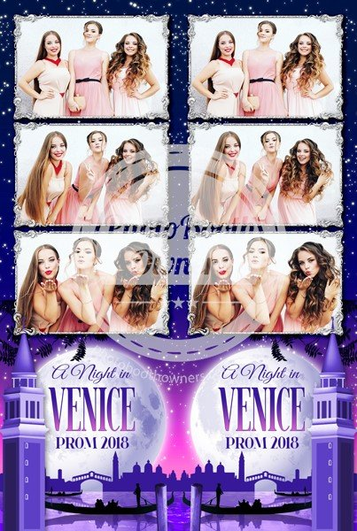 A Night in Venice 3-up Strips