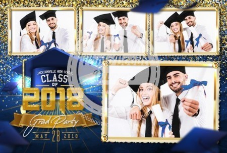 Graduation Glam Postcard