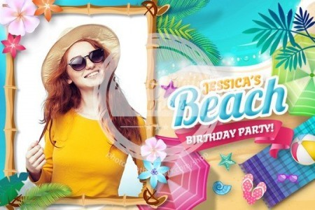 Ultimate Beach Party Postcard (iPad)
