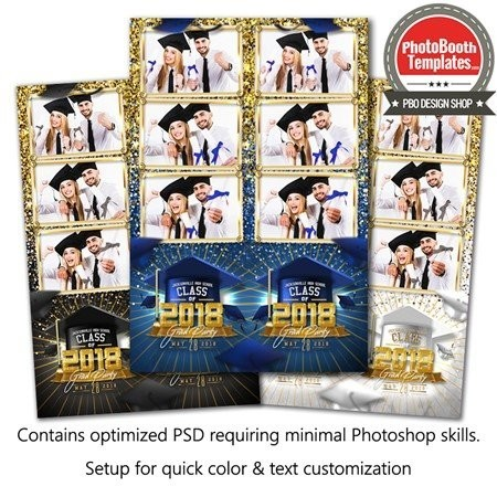 Graduation Glam 3-up Strips 1