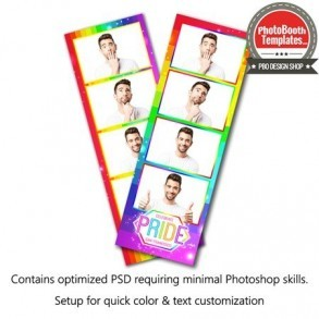 Radiant Rainbow 4-up Strips