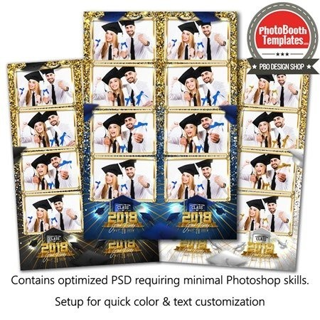 Graduation Glam 4-up Strips 1
