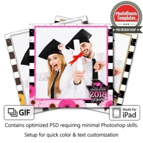 Glitzy Graduation Square (iPad)