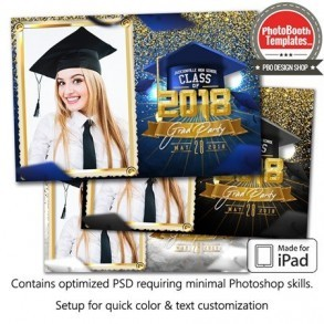 Graduation Glam Postcard (iPad)